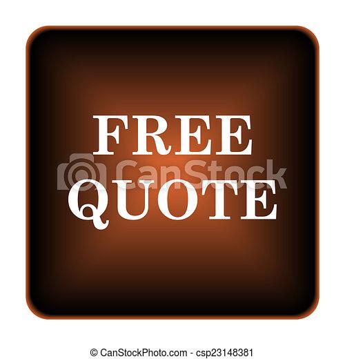 Free quote icon - csp23148381