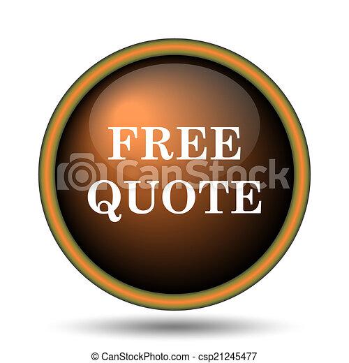 Free quote icon - csp21245477