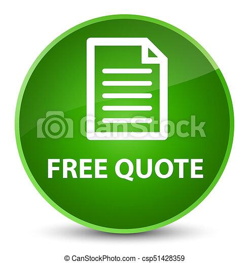 Free quote (page icon) elegant green round button - csp51428359