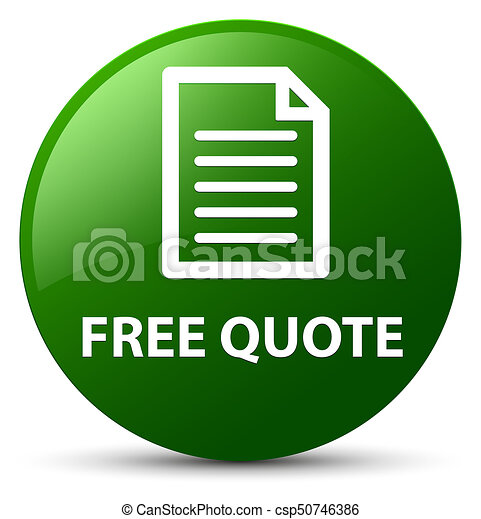 Free quote (page icon) green round button - csp50746386