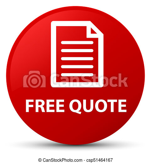 Free quote (page icon) red round button - csp51464167