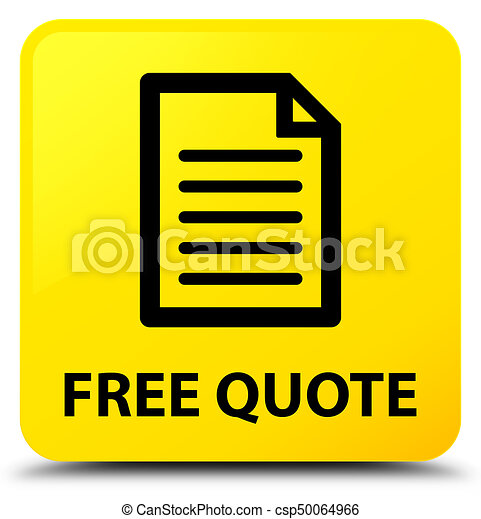 Free quote (page icon) yellow square button - csp50064966
