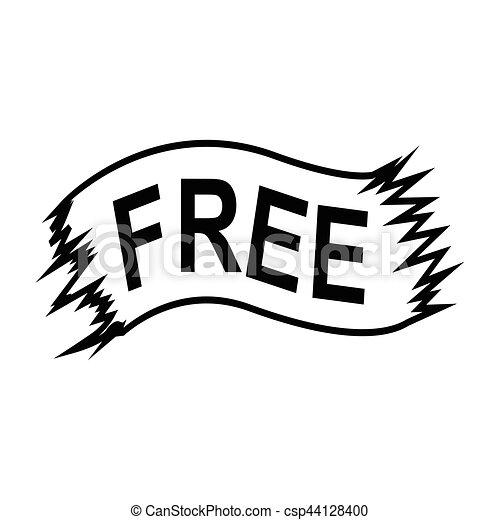 free ribbon icon - csp44128400