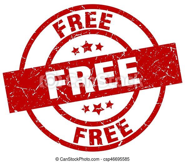 free round red grunge stamp - csp46695585