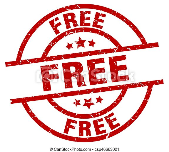 free round red grunge stamp - csp46663021
