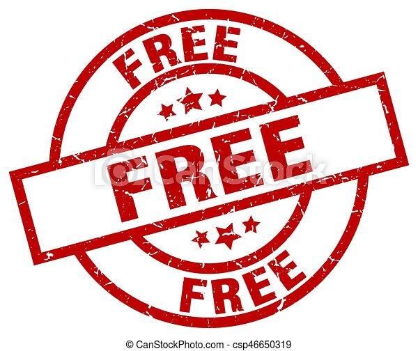free round red grunge stamp - csp46650319
