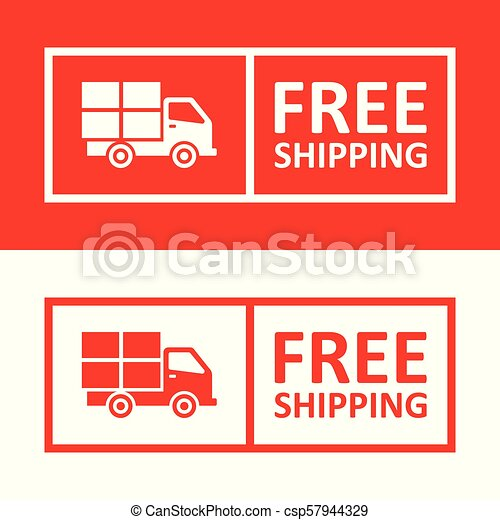 Free Shipping Badge With Truck Icon