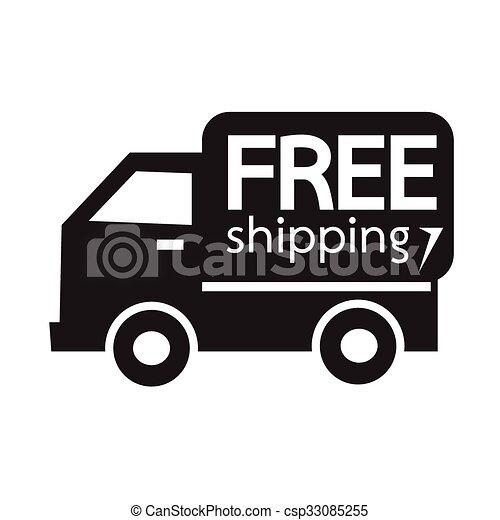 free shipping icon symbol illustration design clipart vector rh canstockphoto ca Shipping Clerk Clip Art Shipping Cartoon Clip Art