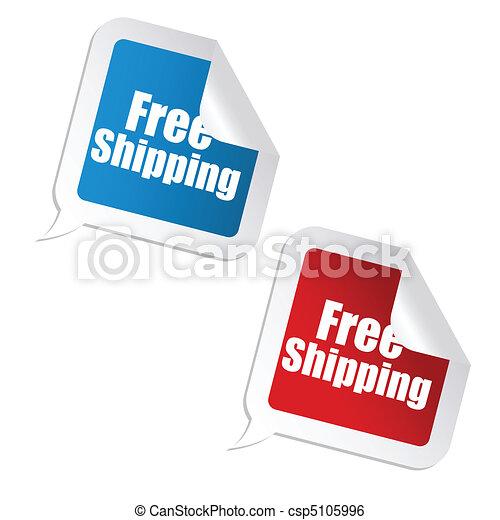 free shipping sticker - csp5105996