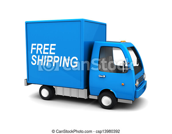 free shipping truck - csp13980392