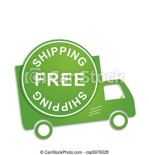 Free shipping truck - csp5976028