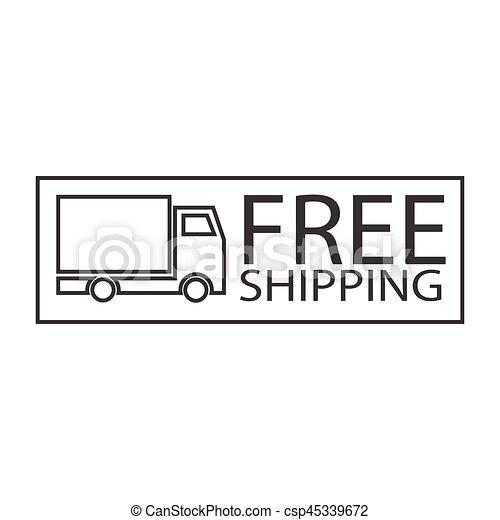 free shipping truck symbol - csp45339672