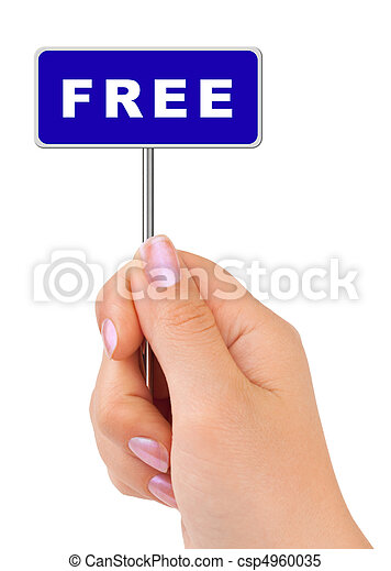 Free sign in hand - csp4960035