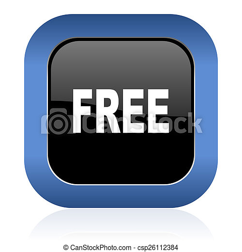 free square glossy icon - csp26112384