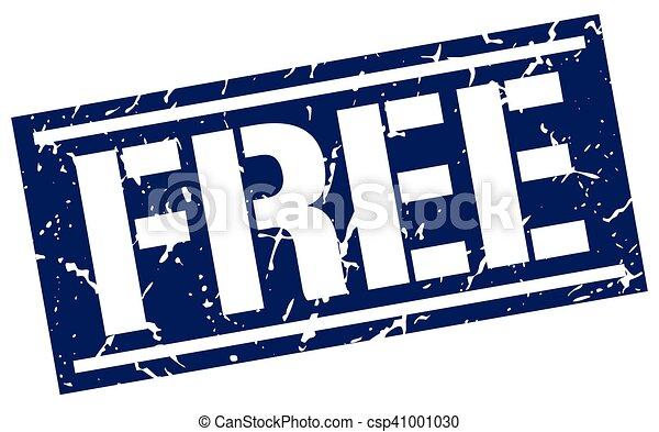 free square grunge stamp - csp41001030