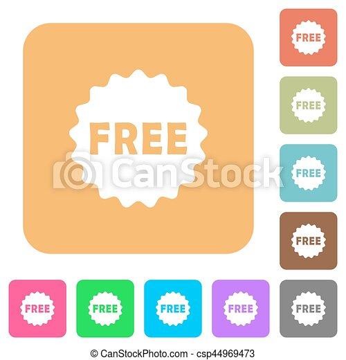 Free sticker rounded square flat icons - csp44969473