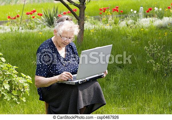Free time in garden - csp0467926