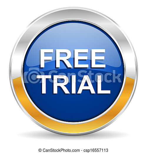 free trial icon - csp16557113