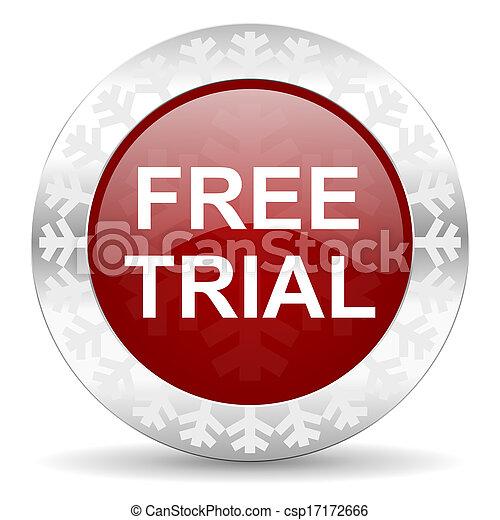 free trial icon - csp17172666