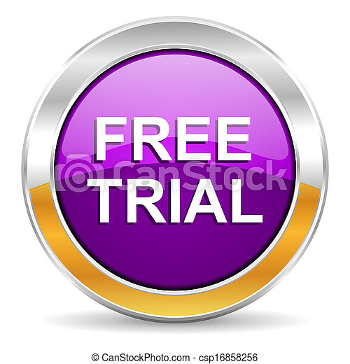 free trial icon - csp16858256