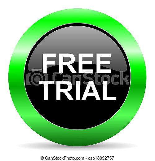 free trial icon - csp18032757