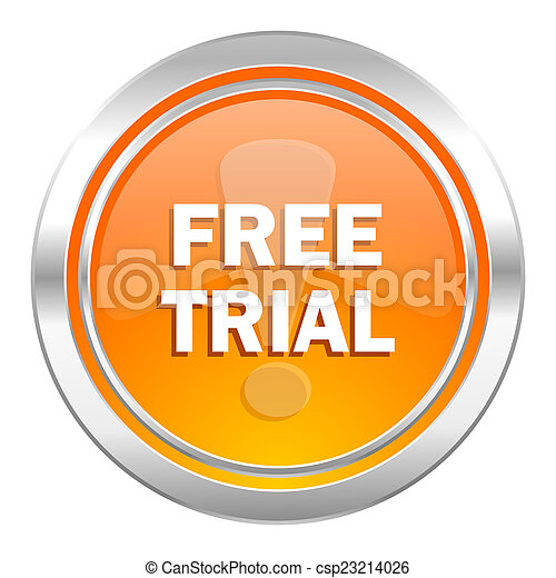 free trial icon - csp23214026