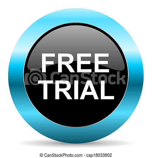 free trial icon - csp18033802