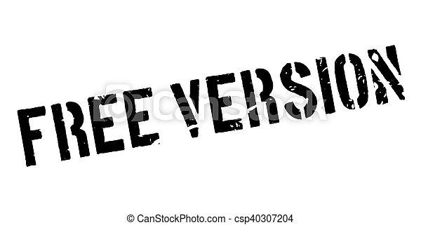 Free version rubber stamp - csp40307204
