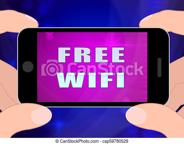 Free Wifi Anywhere Wireless Coverage 2d Illustration - csp59780529