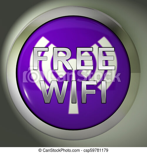 Free Wifi Anywhere Wireless Coverage 3d Rendering - csp59781179
