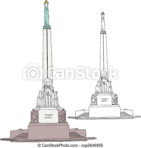 Freedom Monument in Riga - csp2646956