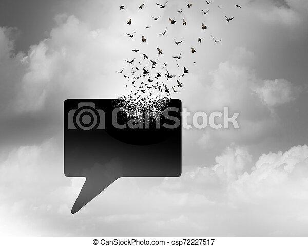 Freedom Of Speech Concept - csp72227517