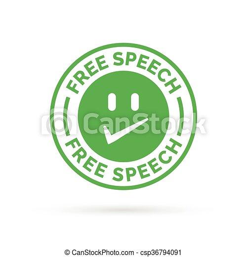 Freedom of speech icon symbol - csp36794091
