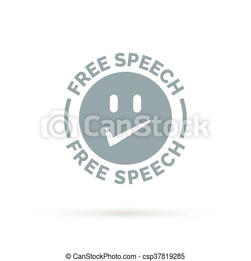 Freedom of speech icon symbol - csp37819285