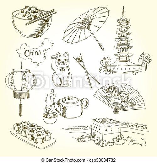 freehand, 陶磁器, 図画, 項目 - csp33034732