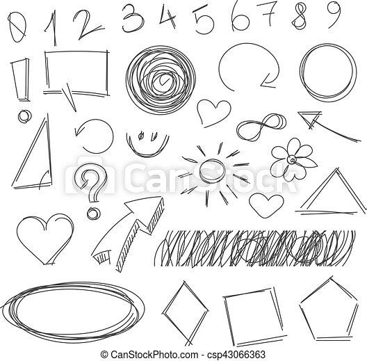 freehand, 雜文, 圖畫, 項目 - csp43066363
