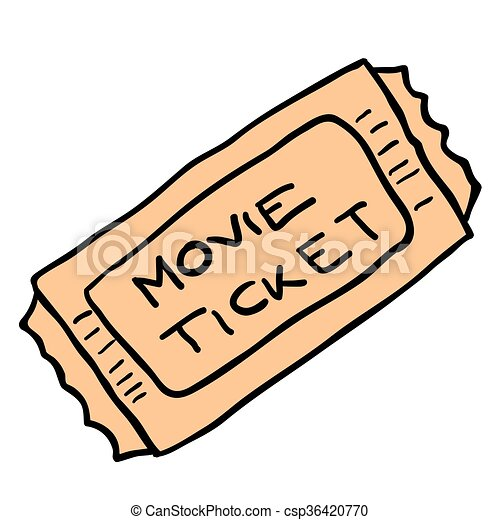 freehand cartoon movie ticket freehand cartoon illustration rh canstockphoto com free clip art movie ticket clipart ticket cinéma