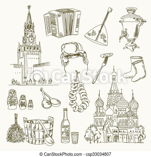freehand, disegno, russia, articoli - csp33034807