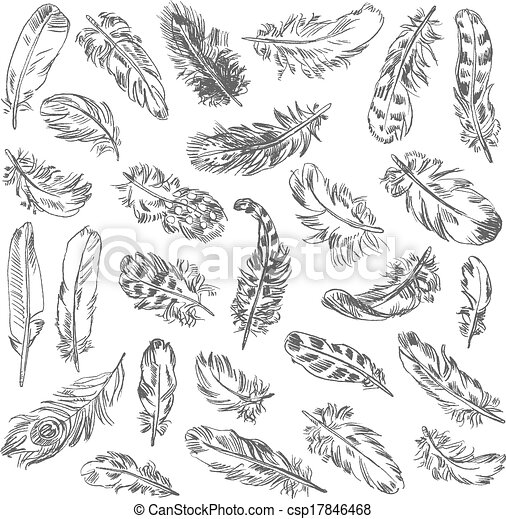 Freehand drawing quill - csp17846468