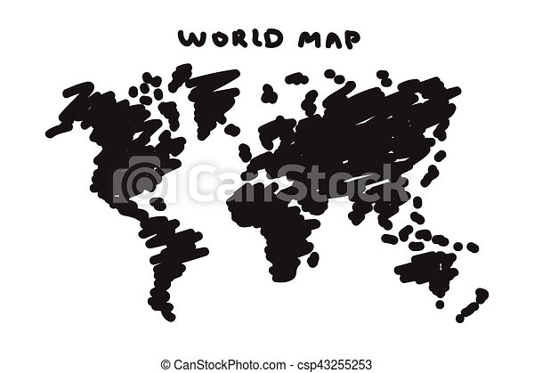 Freehand drawing style of world map clipart vector search freehand drawing style of world map vector gumiabroncs Gallery