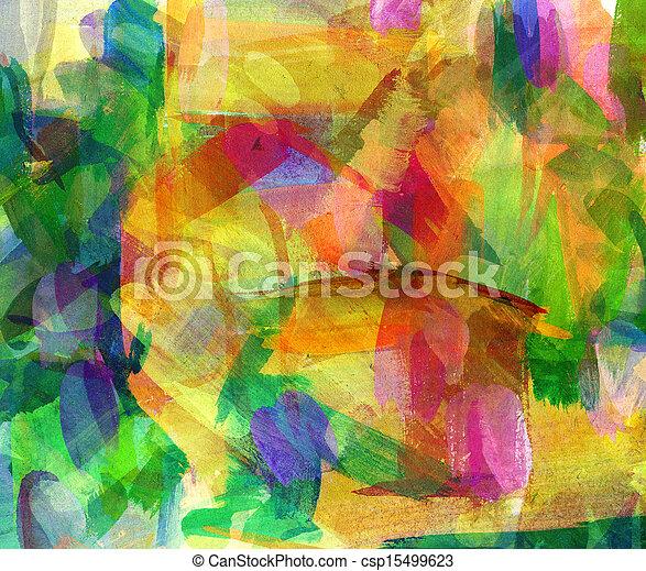 freehand, résumé, huile, dessin, painting. - csp15499623