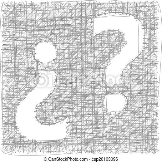 freehand, simbolo, marchio, -, domanda - csp20103096