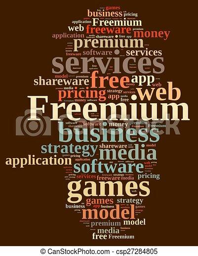 Freemium. - csp27284805