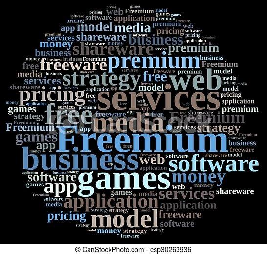 Freemium. - csp30263936
