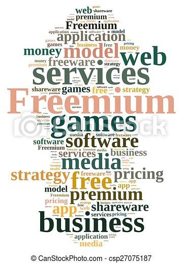 Freemium. - csp27075187