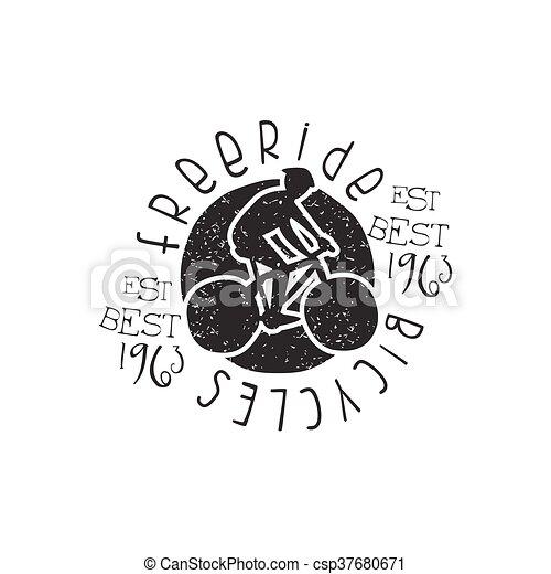 Freeride Bicycles Vintage Stamp - csp37680671