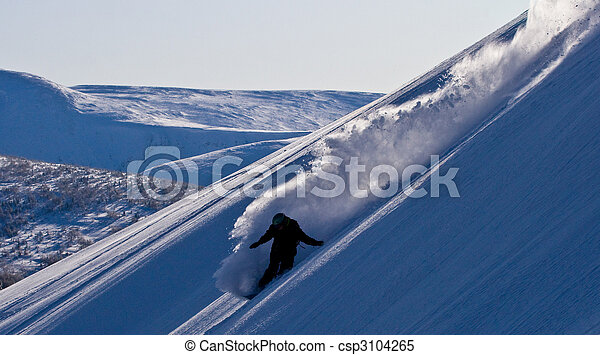Freeride in Mountains. Siberia - csp3104265