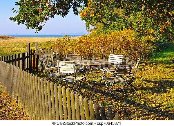 Freesenort on island Ummanz in Germany in autumn - csp70645371