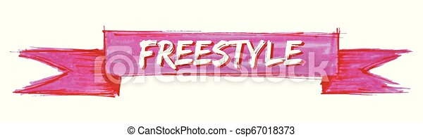 freestyle ribbon - csp67018373