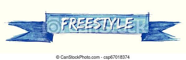 freestyle ribbon - csp67018374